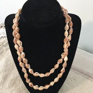 BOHO Beachy Long Shell Necklace • Can Be Doubled